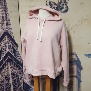 EVERLANE M 100% Cotton Heather Pink Classic Hoodie